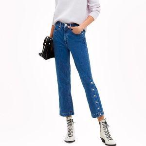 NWT Rag & Bone Vintage Dylan Snap Button Jeans